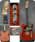 Fender Roy Rogers Telecaster 1998 Pink Back Orange Quilted Front