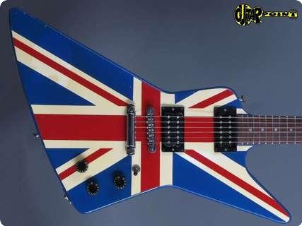 Gibson Explorer 1984 Union Jack   Custom Graphic