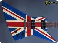 Gibson Explorer 1984 Union Jack Custom Graphic