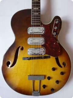 silvertone 1429 1960 sunburst guitar for sale hender amps. Black Bedroom Furniture Sets. Home Design Ideas