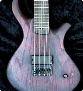 Pmc Guitars Blast 7 2014 Black & Red Tung Oil