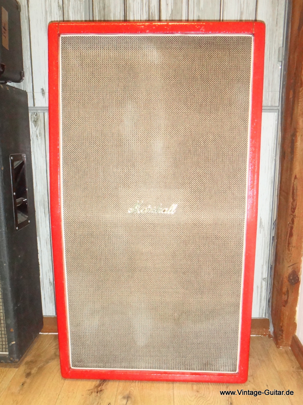 Marshall 8 X 10inch Cabinet 1960 S Red Tolex Amp For Sale Vintage