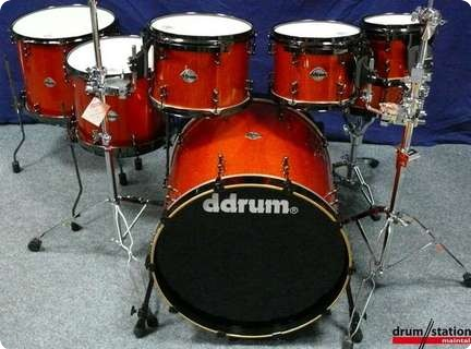 Ddrum Usa Custom Shellset Quot Orange Sparkle Quot 2008 Drum For