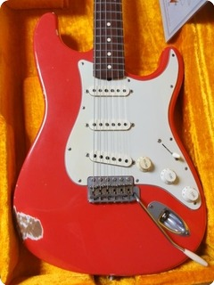 Fender Stratocaster 1960 Cunetto Relic John Cruz Custom Shop 1997 Fiesta Red