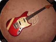 Fender Mustang 1971 Candy Apple W Competition Stripes