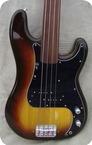 Fender Precision Bass Fretless 1981 Sunburst