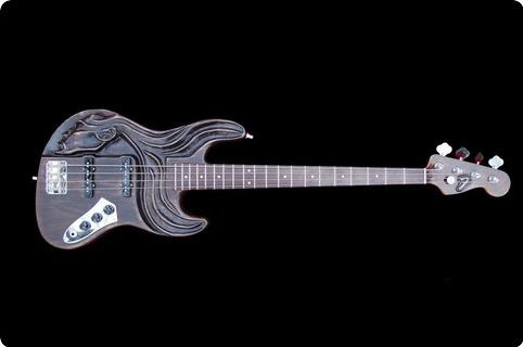 G&b Art Carved Bass Guitar Jazz Bass Type 2012