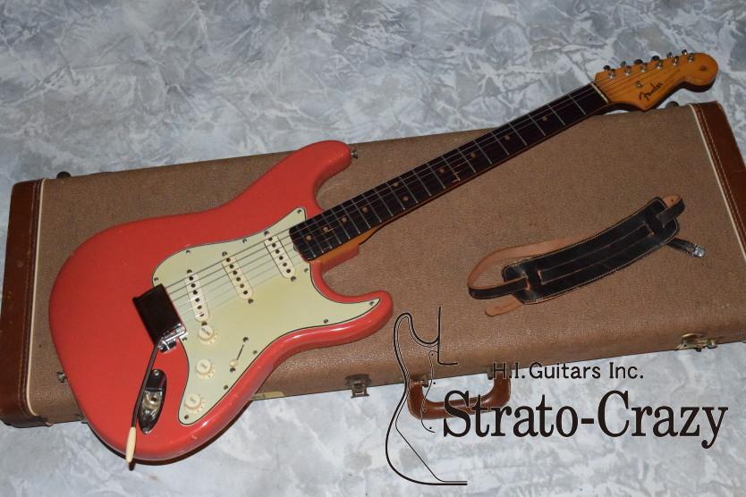 Fender Stratocaster 1963 Fiesta Red Guitar For Sale H I