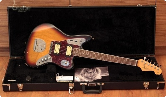 fender jaguar kurt cobain relic 2011 relic sunburst guitar. Black Bedroom Furniture Sets. Home Design Ideas