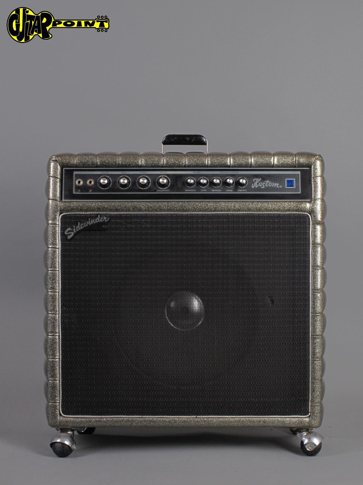 kustom sidewinder 24 c tuck roll 1972 gold sparkle amp for sale guitarpoint. Black Bedroom Furniture Sets. Home Design Ideas