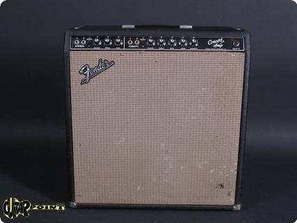 Fender Concert 4x10 Blackface 1964 Black Tolex Amp For Sale GuitarPoint