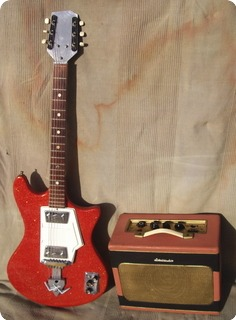 Wandre Twist & Davoli Amp 1960 Sparkle Red