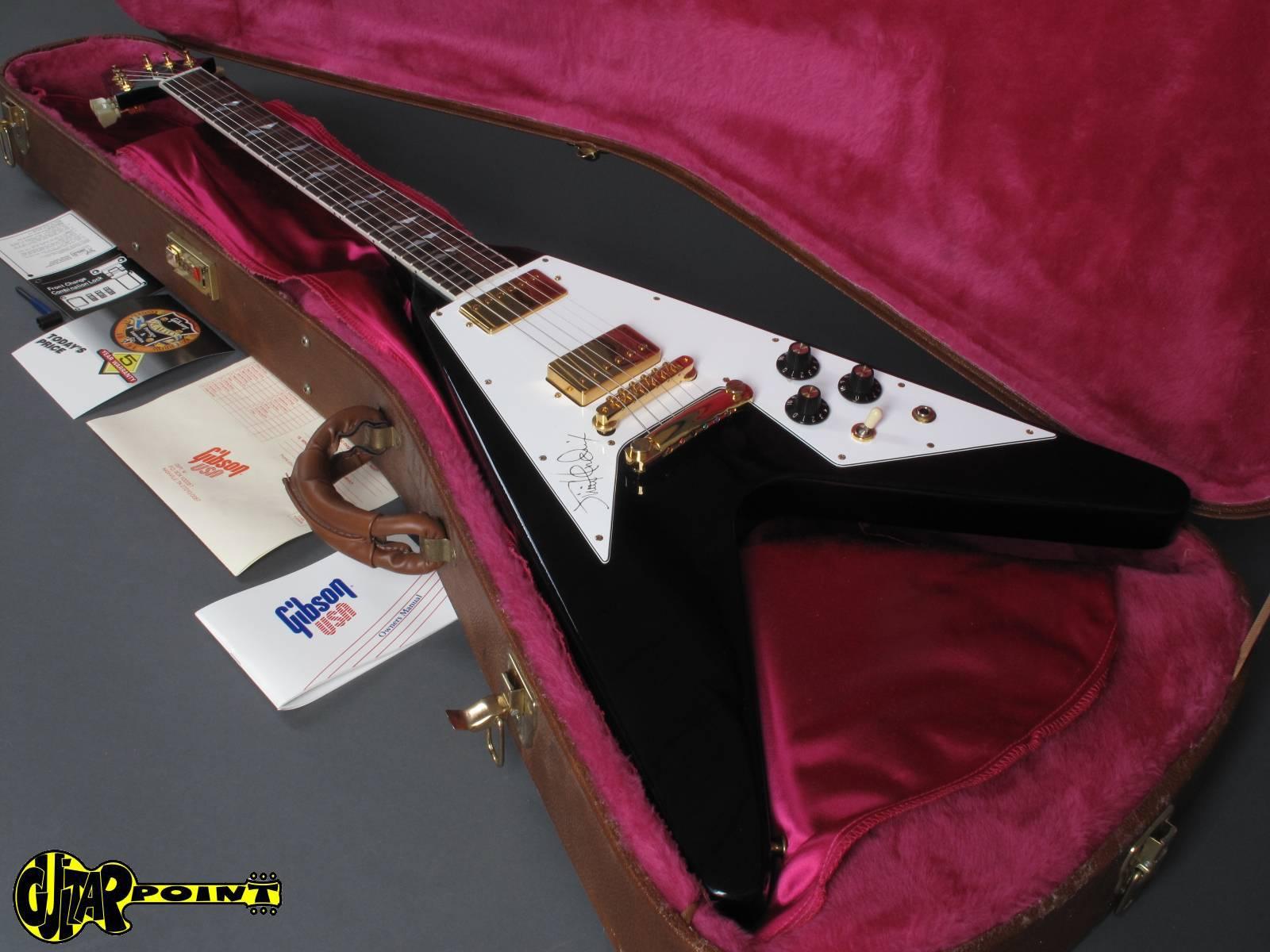 gibson jimi hendrix hall of fame flying v 1991 black guitar for sale guitarpoint. Black Bedroom Furniture Sets. Home Design Ideas