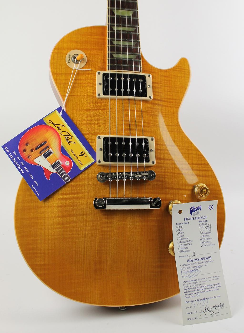 Gibson Les Paul Classic Plus 1997 Trans Amber Guitar For Sale Electric Vintage Sunburst The