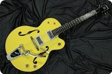 Gretsch-G6118T-120 Anniversary-2004-Bumbo Yellow Cooper Brown