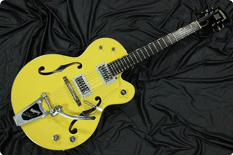 Gretsch G6118t 120 Anniversary 2004 Bumbo Yellow Cooper Brown