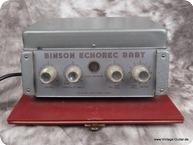Binson Echorec Baby 1962 Red white Tolex