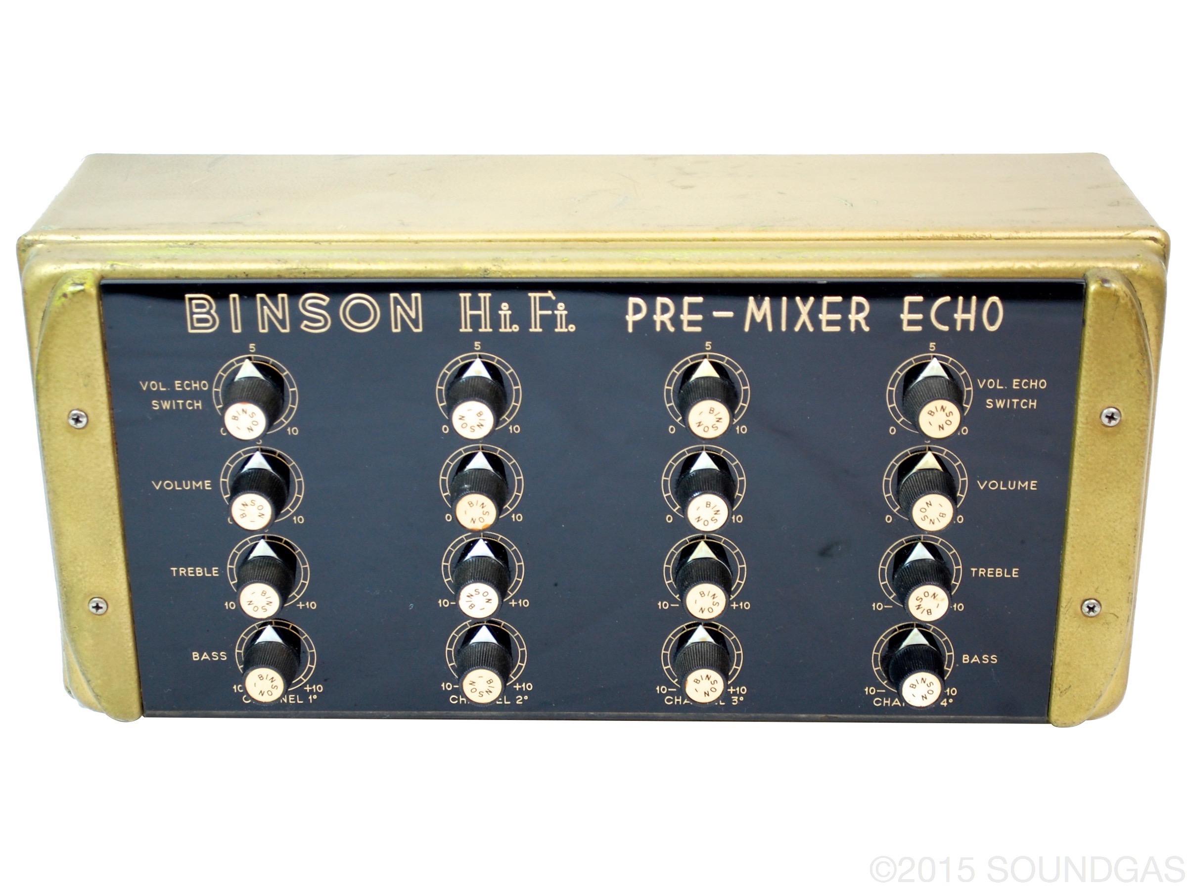 Binson HIFI Pre Mixer 1970's Effect For Sale Soundgas Ltd