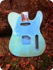 Allparts Fender Lic. 1963 69 Smoked Daphne Blue Tele Body Aged By Monster Relic Rare Fits To Tele 2015 Daphne Blue