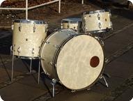 WFL Ludwig Vintage Drum Co 1949 White Marine Pearl