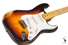 Fender Custom Shop 60th Anniversary 1954 Heavy Relic Stratocaster 2014 2 Tone Sunburst
