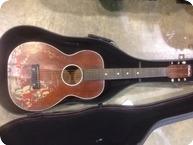 Silvertone Cowboy Guitar 1942 Red