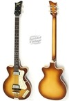 Hofner 5002 Double Cut German Club 2016 Sunburst