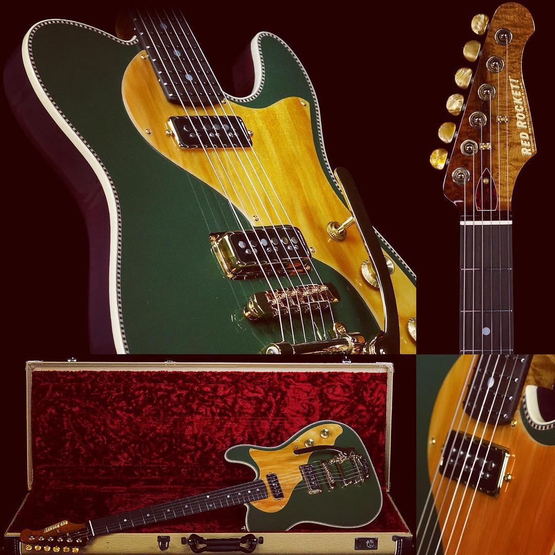 Red Rocket Guitars Atomic Duo 2016 Cadillac Green Guitar