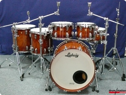 Ludwig Usa Legacy Maple Exotic 2016 Supernatural Lacquer Over Waterfall Bubinga (high Gloss)