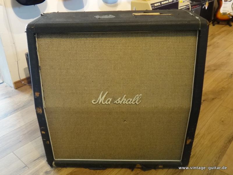 Marshall Model 1982 Bass Cabinet 1970 Black Tolex Basketweave Amp