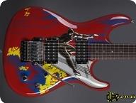 Ibanez Joe Satriani 20th Anniversary 2008 Red Silver Surfer