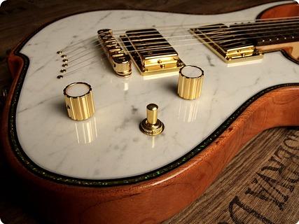 Zerberus Guitars Gorgonized Nemesis 2016 White Carrara