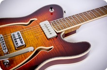 Red Rocket Guitars Thinline Atomic 2016 Flame Top Double F