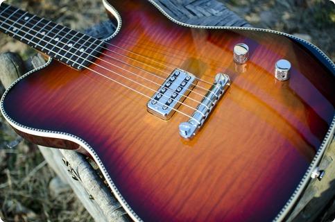 Red Rocket Guitars Artist Series Atomic 2016 Flame Top Burst