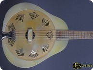 National Triolian Resoantor Mandolin 1930 Palm Tree Motiv