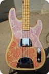 Keller Guitars Pink Paisley Telecaster Bass 2016 Nitro Pink Paisley