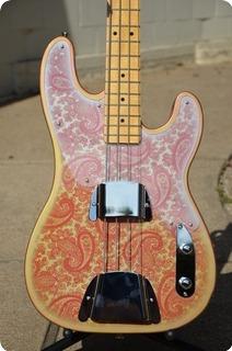 Keller Guitars Pink Paisley Telecaster Bass 2016 Nitro / Pink Paisley