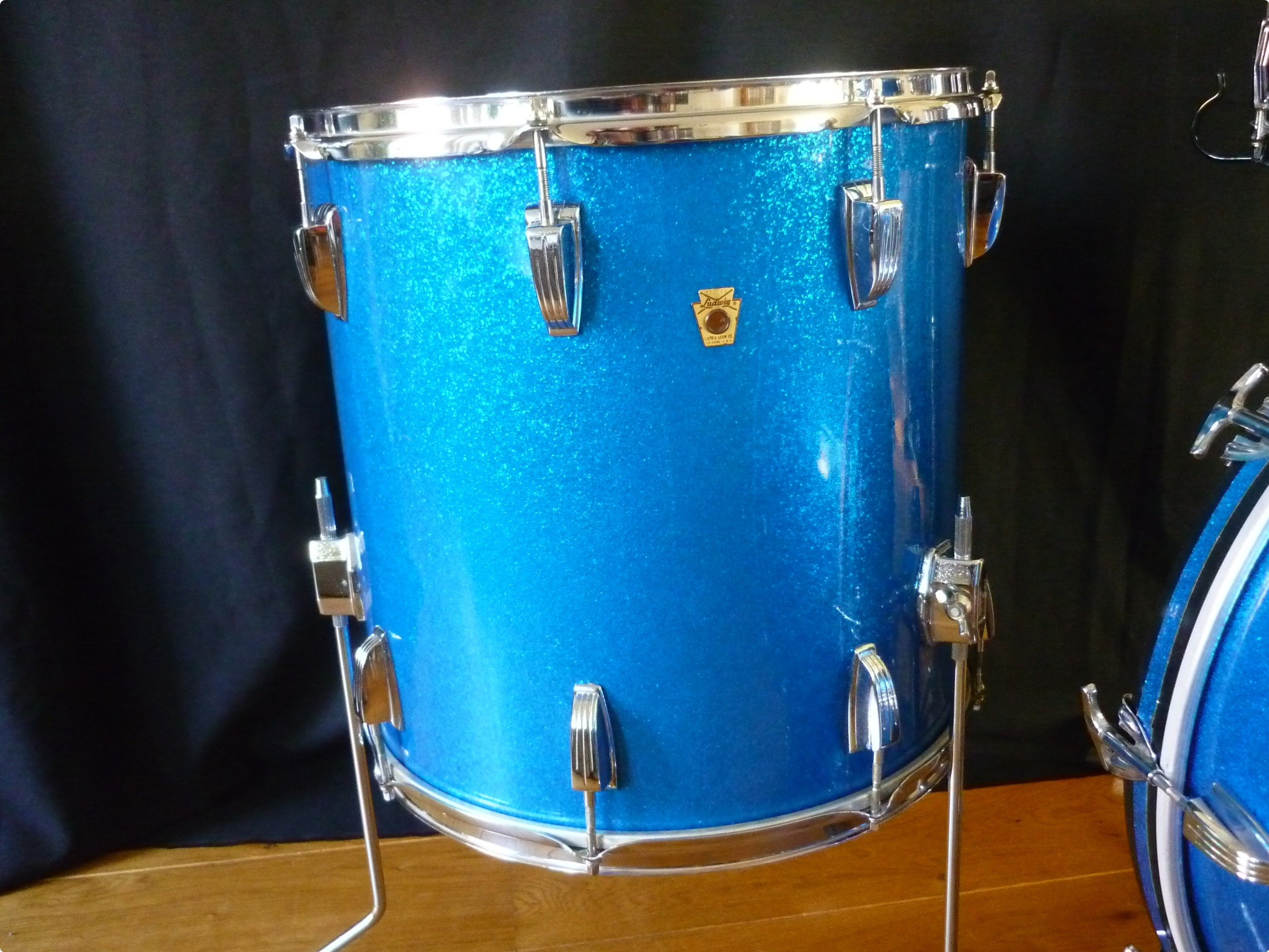 Ludwig Ludwig Superclassic 1969 Blue Sparkle Drum For Sale