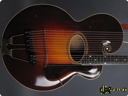 Gibson Style U / Harpguitar 1919 Sunburst