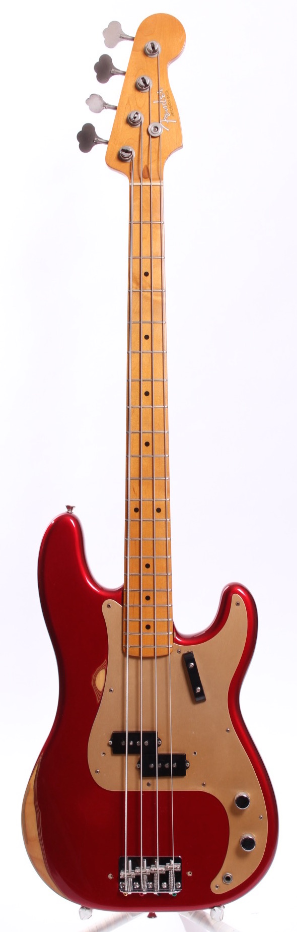 fender american vintage 39 57 reissue precision bass 1999 candy apple red bass for sale yeahman 39 s. Black Bedroom Furniture Sets. Home Design Ideas