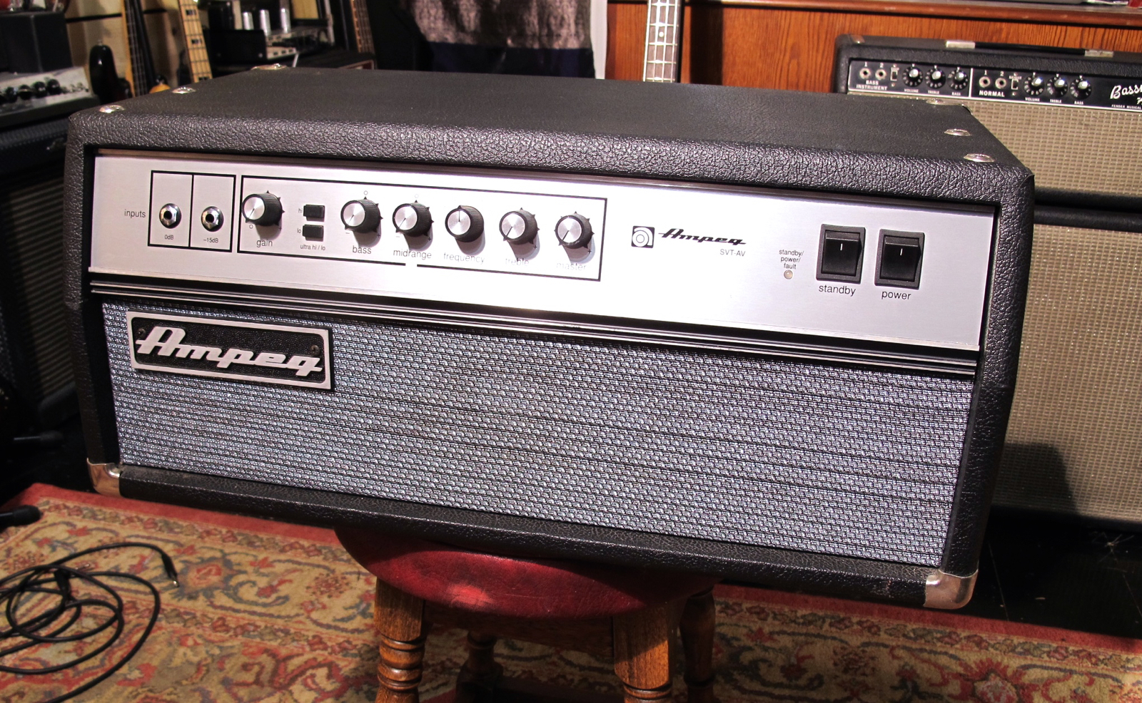 Ampeg SVT AV 2002 Black Tolex Amp For Sale Andy Baxter