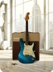 Fender Stratocaster Canvas Print 1961 Blue Sparkle