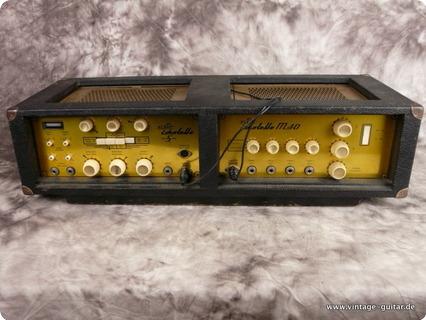 Echolette M 40 Tube Pa Amplifier Wit Tape Echo Gold