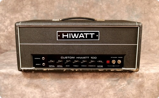 Hiwatt Dr103 1977 Black Tolex