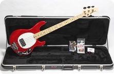 MusicMan USA Stingray 4 Ltd. 2014 Cardinal Red Sparkle