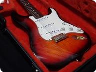 Fender Stratocaster 50th Anniversary Flamed Maple Top Back Gold HW 1996 Sunburst