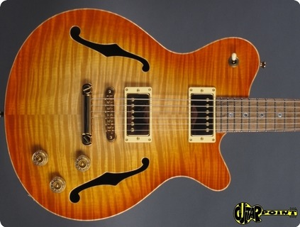 Don Grosh Set Neck Semi Hollow 2017 Natural Burst
