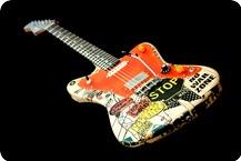 Deimel Guitarworks Deimel Firestar Artist Edition STOP THE WAR Napkin Technique Transparent Laquer