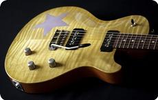 Deimel Guitarworks Deimel Singlestar 2014 Lemon Fog Faded Plum On Mahogany