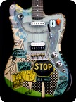 Deimel Guitarworks Deimel Firestar Artist Edition STOP THE WAR 2017 Napkin Technique Transparent Laquer